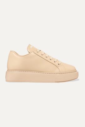 Prada Leather Sneakers - Beige