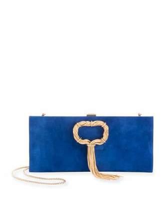 Roger Vivier Club Chain Suede Clutch Bag
