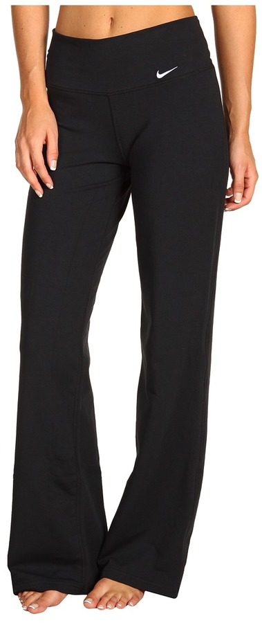 Nike French Terry Loose Fit Training Pant (Black/Black/White) - Apparel