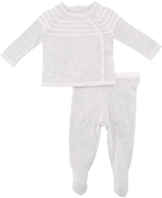 Angel Dear Take Me Home Knit Sweater w/ Footed Leggings, Size Newborn-3 Months