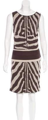 Giambattista Valli Zebra Print Knit Dress