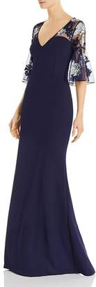 Aidan Mattox Embellished Crepe Gown