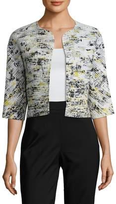 Carolina Herrera Women's Cotton Printed Crop Jacket