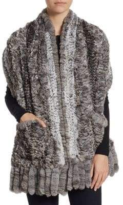 The Fur Salon Knit Chinchilla Stole