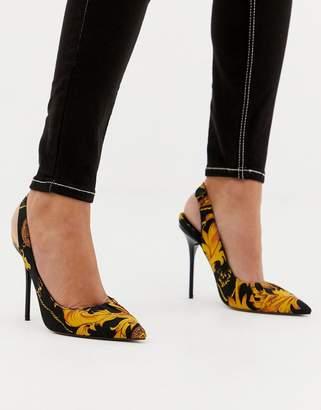 Asos DESIGN Prize slingback high heels