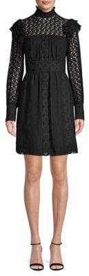 Anna Sui Victorian Floral Embroidery Shirtdress