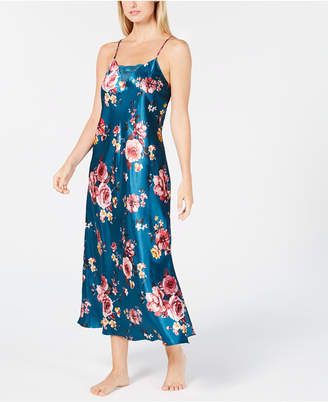 Thalia Sodi Floral-Print Lace-Trim Nightgown