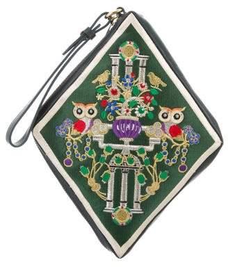 Mary Katrantzou Owl Badge Diamond Pochette