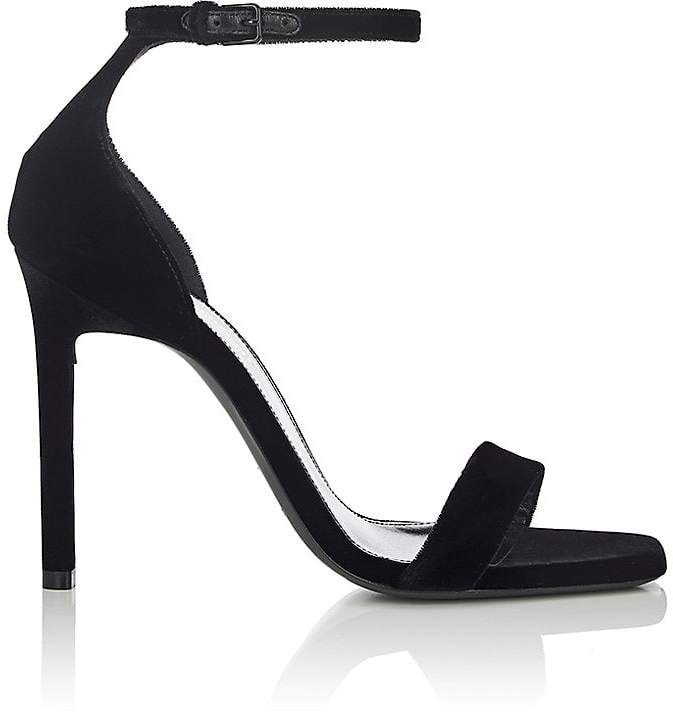 Saint Laurent Women's Amber Velvet Sandals