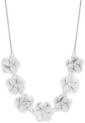 Red Herring Pearl Flower Necklace