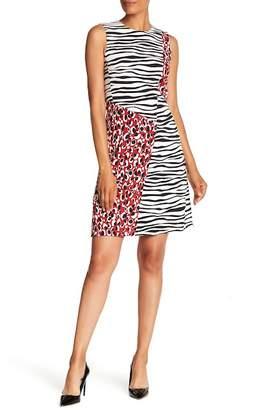 BOSS Diseba Animal Print Sheath Dress