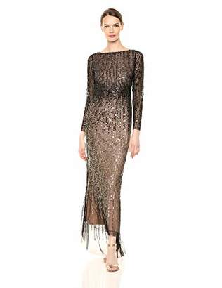 Adrianna Papell Women's Beaded Long Gown,4