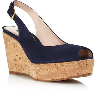 764f5fb3fbe Stuart Weitzman Women s Jean Peep Toe Platform Wedge Sandals
