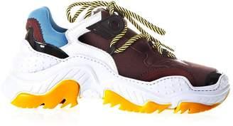 N°21 N.21 Billy White & Burgundy Sneakers