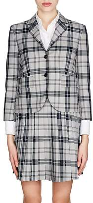 Thom Browne Women's Plaid Wool-Blend Shrunken Sportcoat