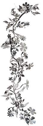 Tord Boontje Flora Brushed Steel Hanging Wall Art
