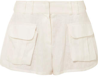 Zimmermann Golden Skater Linen Shorts - White