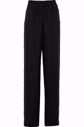 Maison Margiela Button-Detailed Crepe Wide-Leg Pants
