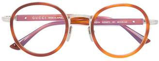 Gucci wide bridge round glasses