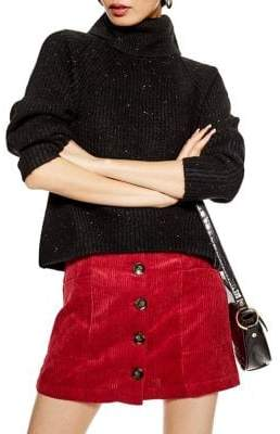 Topshop Ribbed Roll Neck Sweater