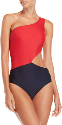MICHAEL Michael Kors Color Block Cutout One-Piece Swimsuit