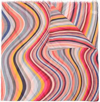 Paul Smith psychadelic print scarf