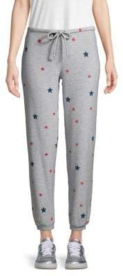 Chaser Star Graphic Fleece Drawstring Joggers