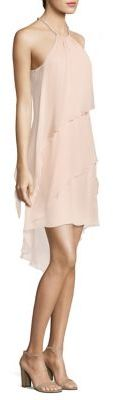 Laundry by Shelli Segal Tiered Chiffon Halter Dress $195 thestylecure.com