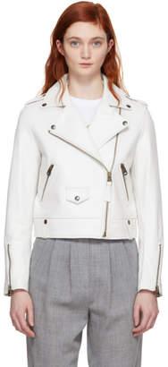 Mackage White Baya Moto Jacket