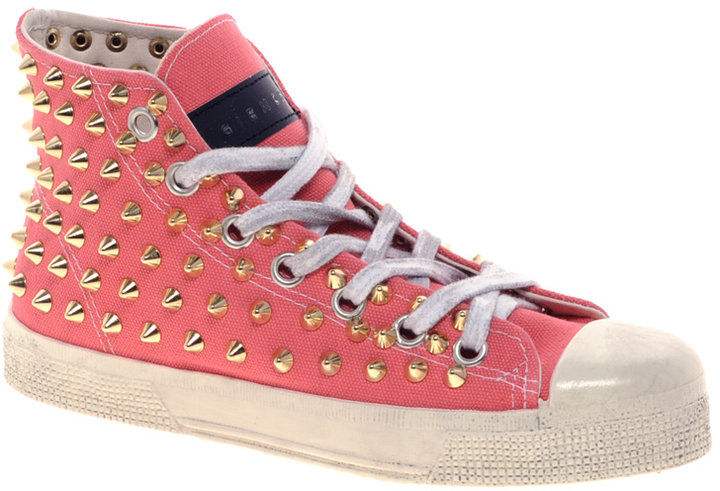Gienchi Gapo Gold Studded High Top Trainers
