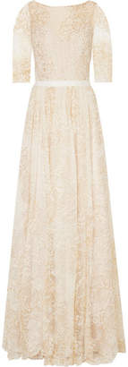Marchesa Embellished Tulle Gown - Ivory