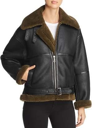 Bagatelle Oversized Faux Shearling Moto Jacket