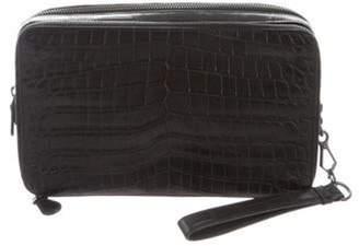 Bottega Veneta Crocodile Box Clutch Black Crocodile Box Clutch