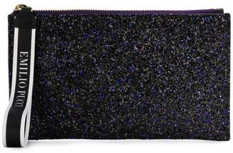 Emilio Pucci top zip glittered clutch