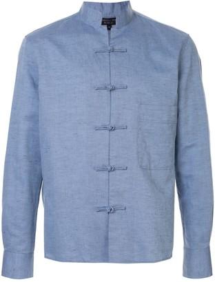 SHANGHAI TANG mandarin collar button-up shirt