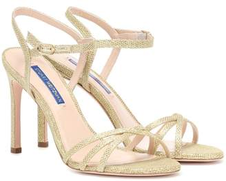 Stuart Weitzman Starla 105 metallic leather sandals