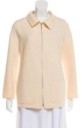 Oscar de la Renta Zip-Up Wool Jacket