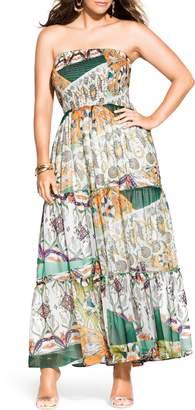 City Chic Bilbao Strapless Maxi Dress