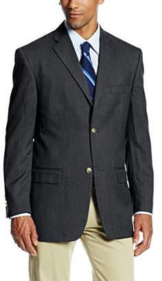 Haggar Men's Solid Two-Button Center-Vent Sportcoat
