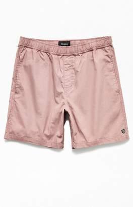 Brixton Pink Elastic Waist Shorts