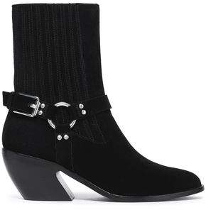 Opening Ceremony Woman Buckled Suede Ankle Boots Black Size 35 Opening Ceremony TWfFEGpw