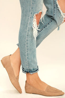 Emmy Camel Suede Pointed Loafers $22 thestylecure.com