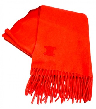Celine Orange Cashmere Scarves