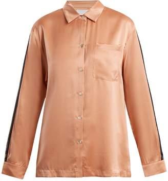 ASCENO Patch-pocket silk pyjama shirt