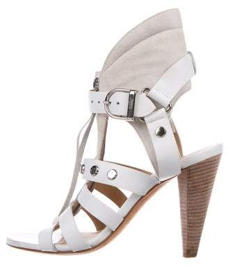 IRO Leather Caged Sandals