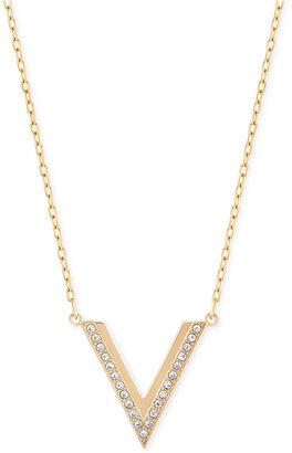 Swarovski Rose Gold-Tone Small Chevron Pendant Necklace $99 thestylecure.com