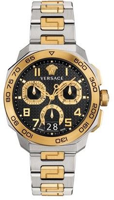 Versace 'Dylos' Chronograph Bracelet Watch, 44mm $2,295 thestylecure.com
