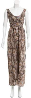Marni Belted Ornate Print Dress