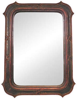 One Kings Lane Vintage 19th-C. Italian Painted Mirror - Cliffe's Edge Antiques