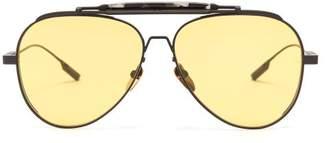 Jacques Marie Mage - Peyote Aviator Sunglasses - Mens - Black
